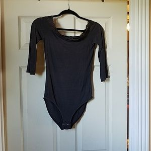American eagle super soft & sexy rib bodysuit top